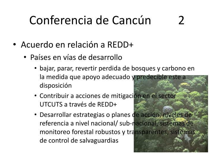 Conferencia de Cancún         2