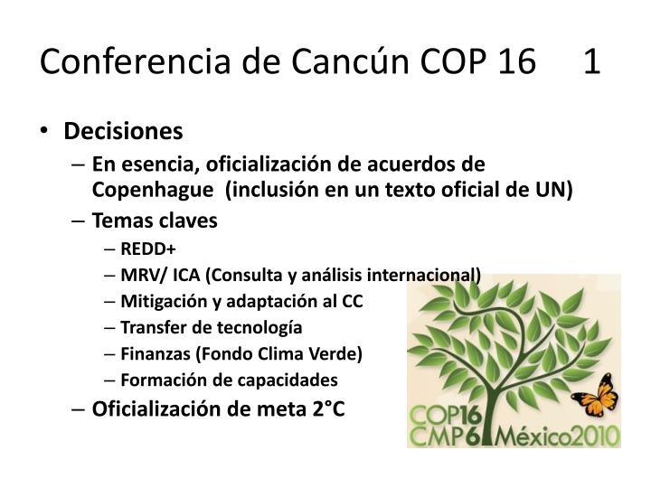 Conferencia de Cancún COP 16     1