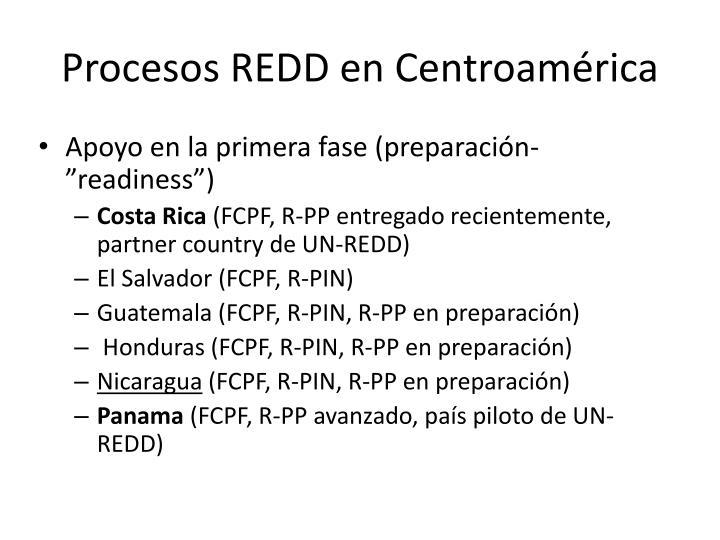 Procesos REDD en Centroamérica