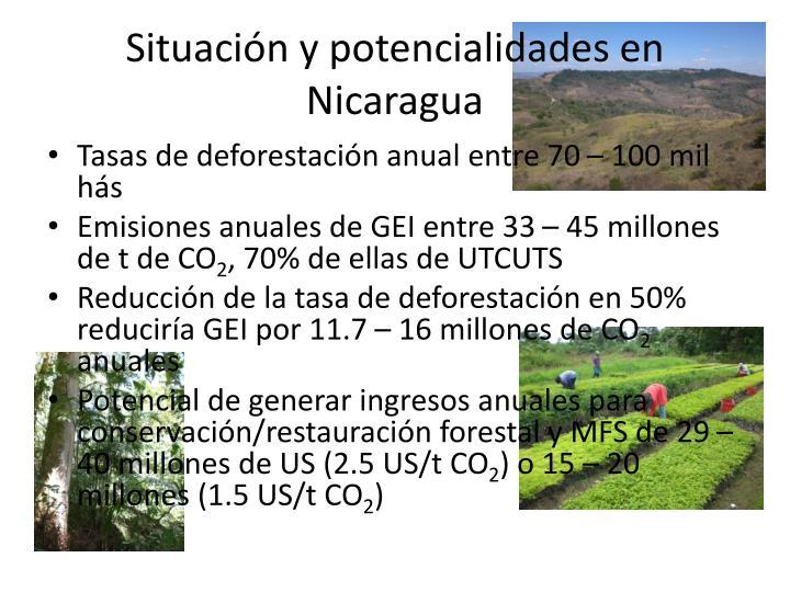 Situación y potencialidades en Nicaragua