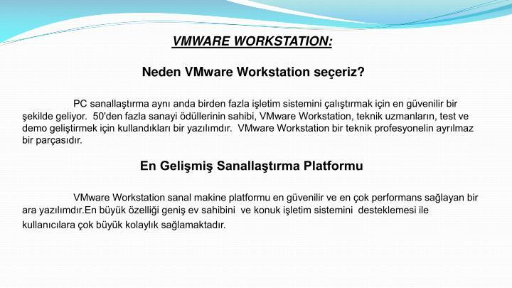 VMWARE WORKSTATION: