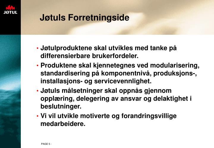 Jøtuls Forretningside