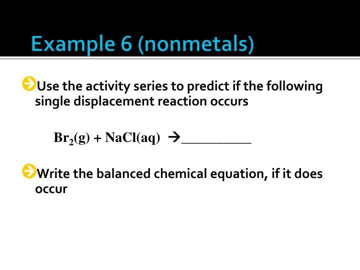 Example 6 (