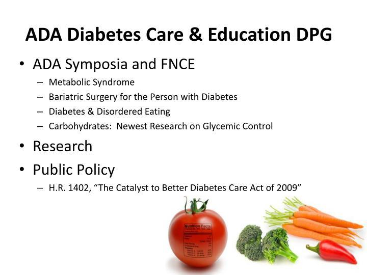 ADA Diabetes Care & Education DPG