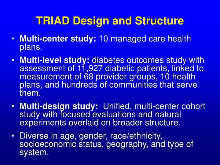 TRIAD Design and Structure