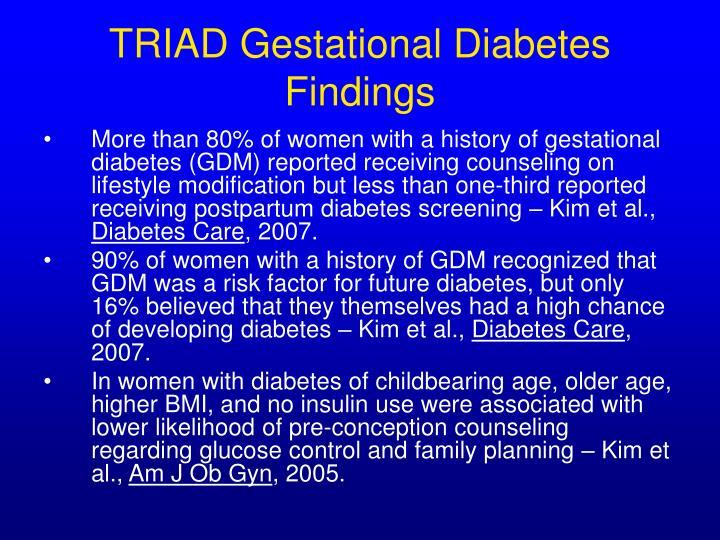 TRIAD Gestational Diabetes Findings