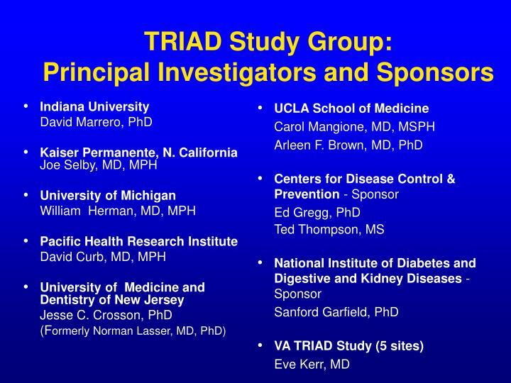TRIAD Study Group: