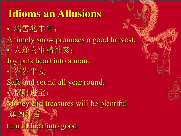Idioms an Allusions