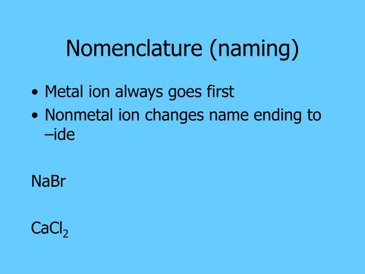 Nomenclature (naming)