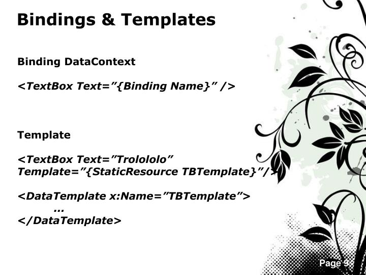 Bindings & Templates