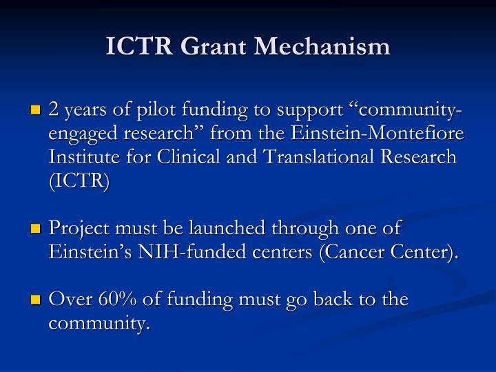 ICTR Grant Mechanism