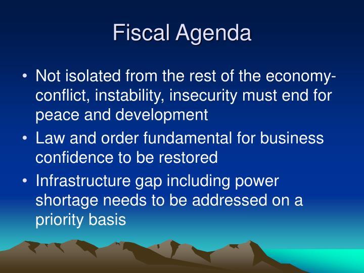 Fiscal Agenda
