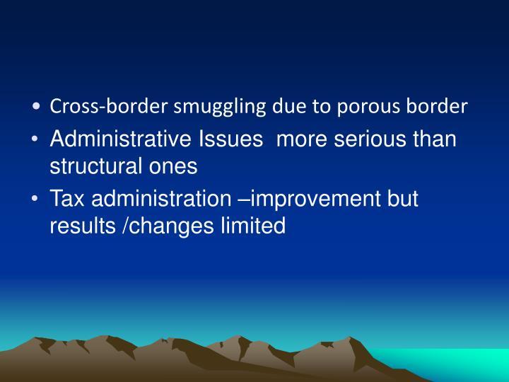 Cross-border smuggling due to porous border