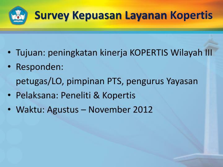 Survey Kepuasan Layanan