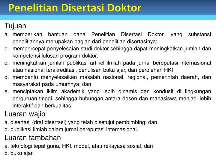 Penelitian Disertasi Doktor