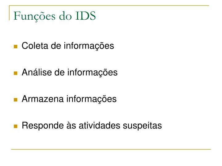 Funções do IDS