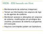 hids ids baseado em host