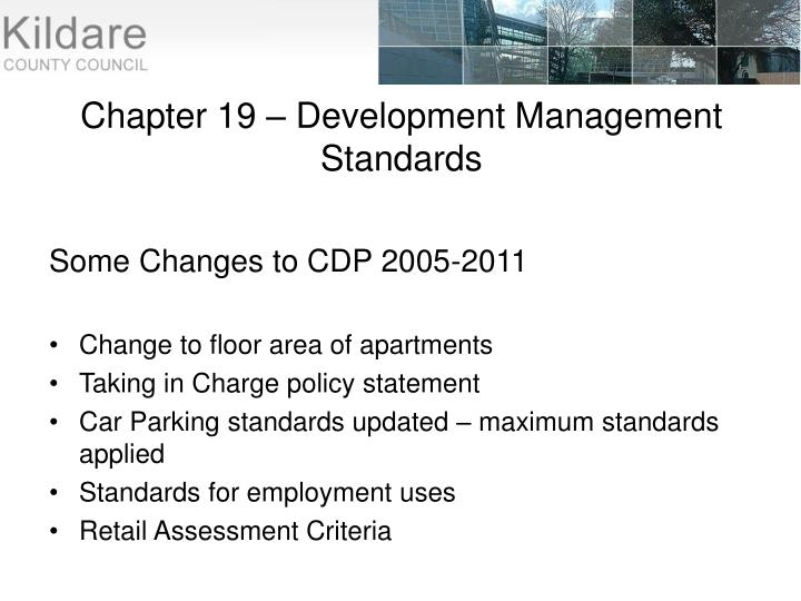 Chapter 19 – Development Management Standards
