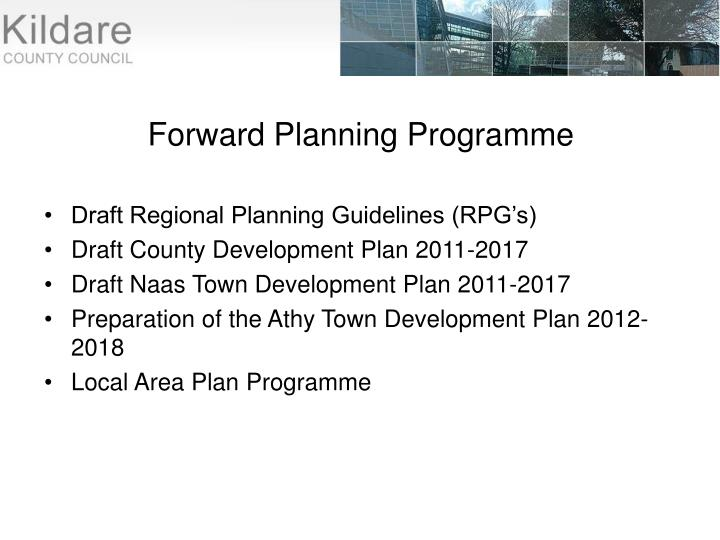 Forward Planning Programme