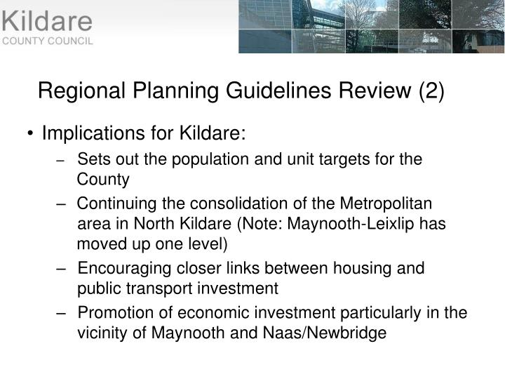 Regional Planning Guidelines Review (2)
