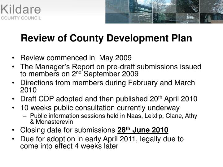 Review of County Development Plan