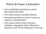 politics power in education