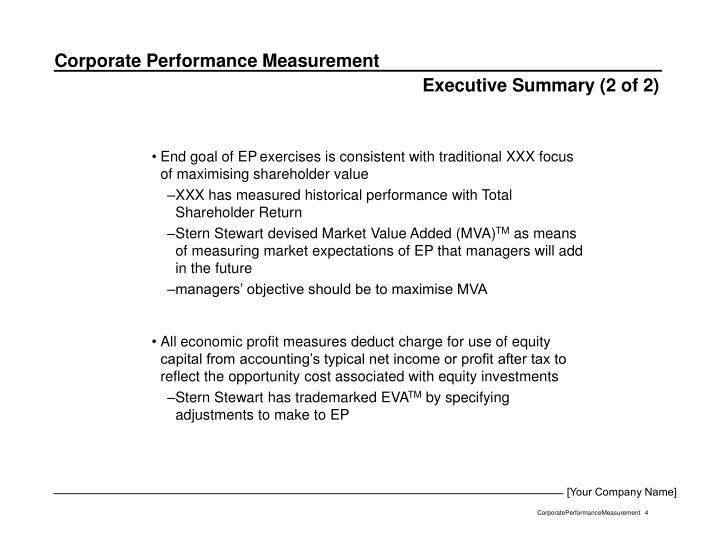 Executive Summary (2 of 2)