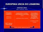 europska unija do lisabona