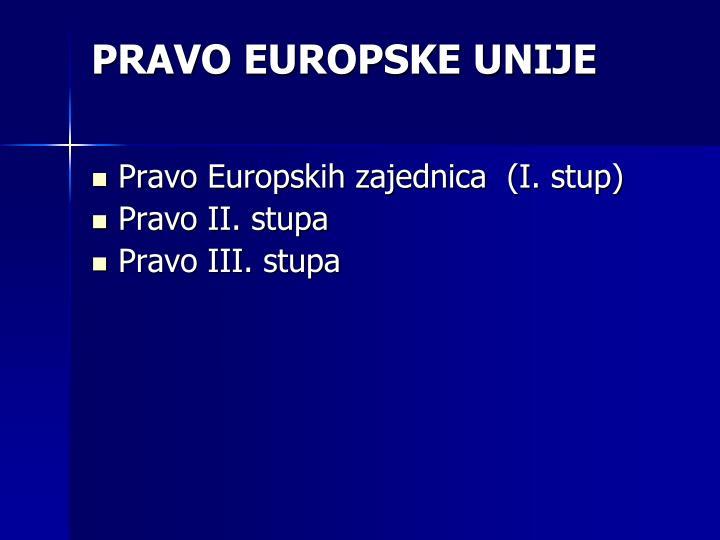 PRAVO EUROPSKE UNIJE