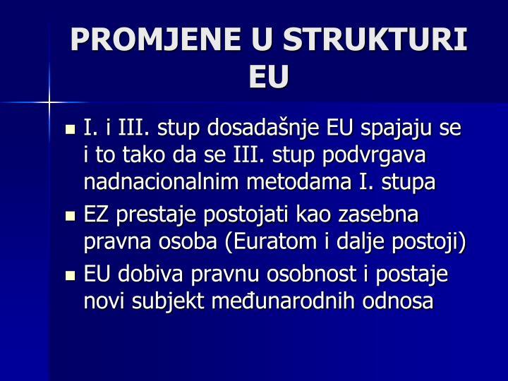 Promjene u strukturi EU