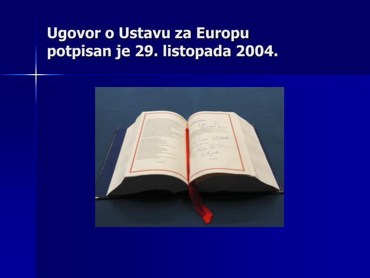 Ugovor o Ustavu za Europu