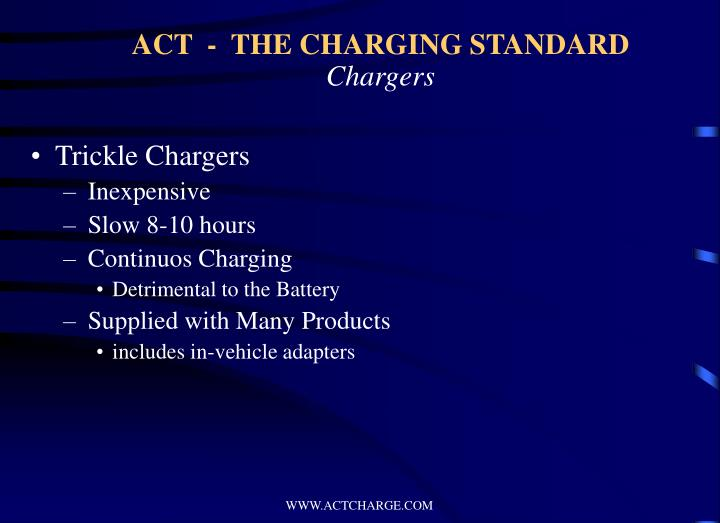 ACT  -  THE CHARGING STANDARD