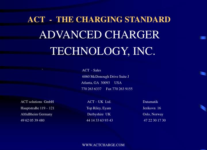 Act the charging standard