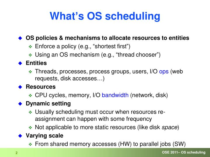What's OS scheduling