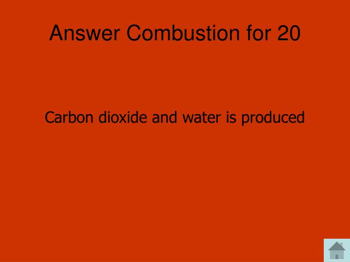 Answer Combustion for 20