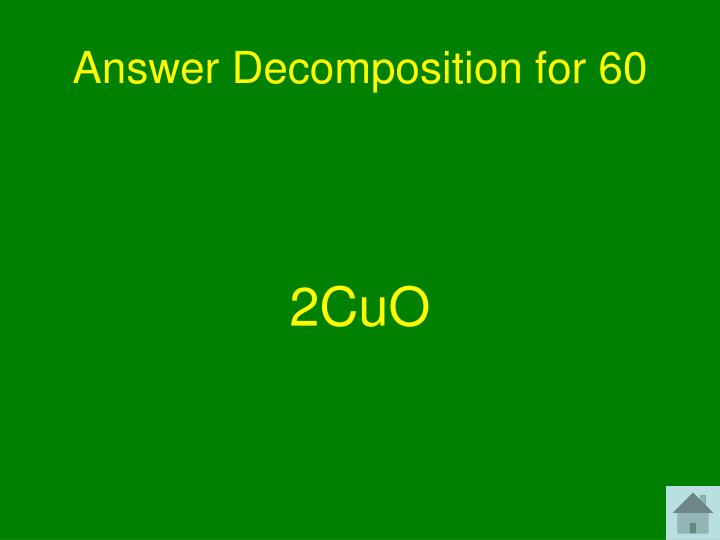 Answer Decomposition