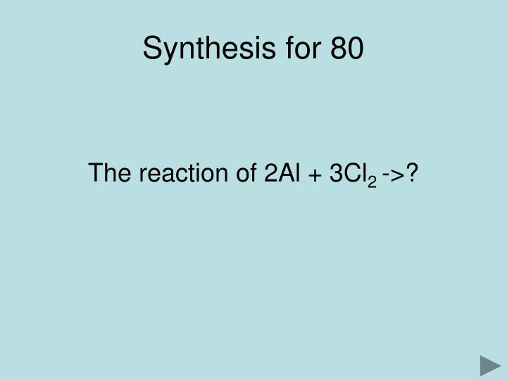 Synthesis for 80