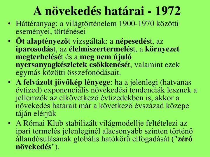 A növekedés határai - 1972