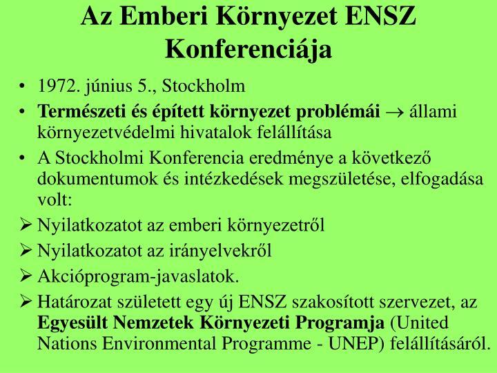 Az Emberi Környezet ENSZ Konferenciája