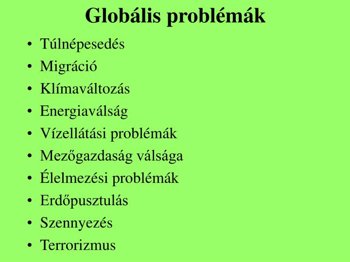 Globális problémák