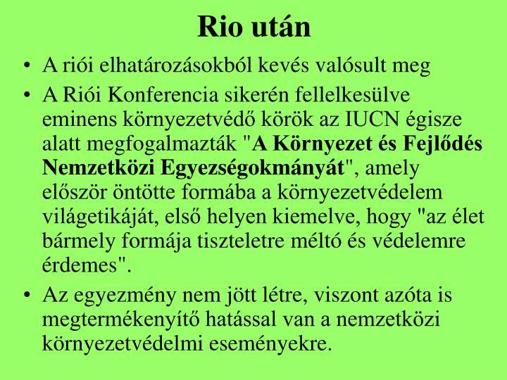 Rio után
