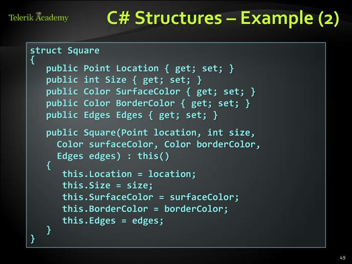 C# Structures – Example (2)