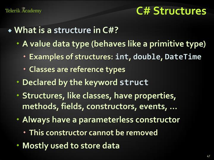 C# Structures