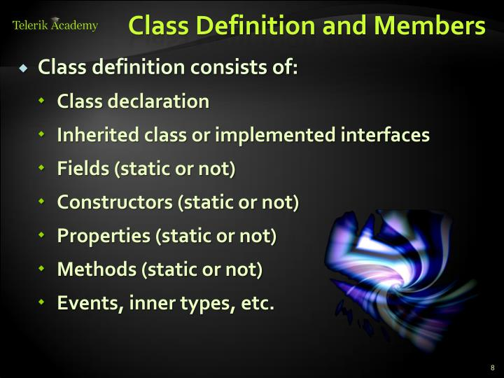 Class Definition and Members