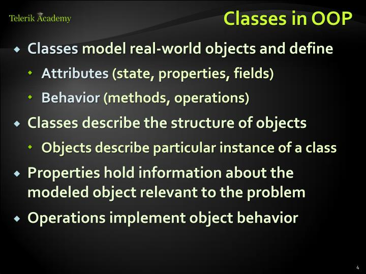 Classes in OOP