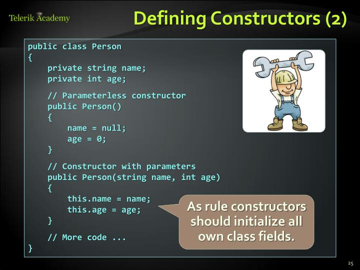 Defining Constructors (2)