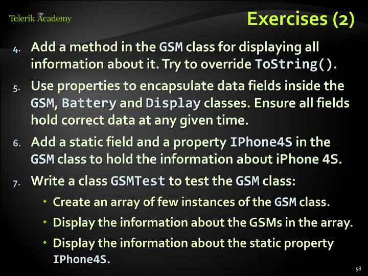 Exercises (2)