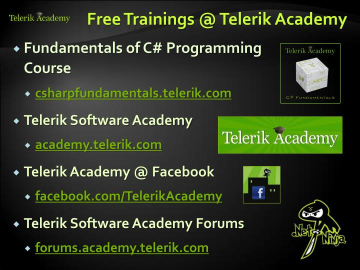 Free Trainings @ Telerik Academy