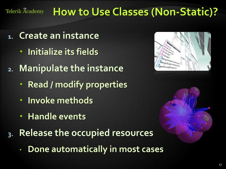 How to Use Classes (