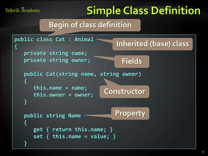 Simple Class Definition